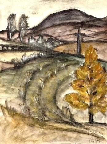 Herbsttag-Blick zum Herrmannsberg