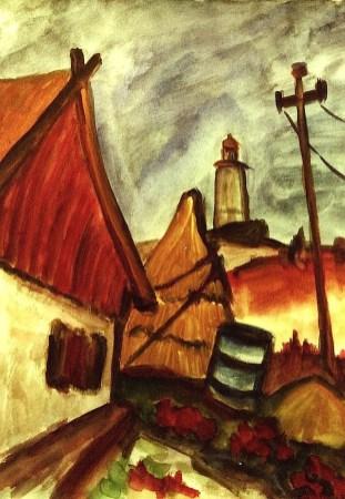 Hiddensee17_Grieben mit Leuchtturm