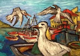 Istrien6_Pula-Moewen im Hafen