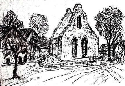 KNR-Ruine der Dorfkirche Retzow