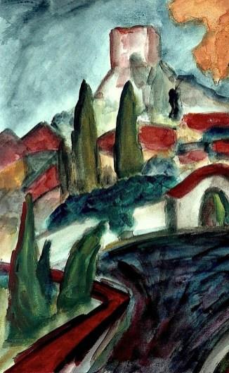 Maehren15-Mikulov-Blick zum Kozi Hradek3