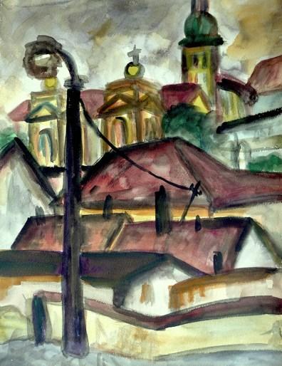 Maehren18-Mikulov-Blick zur Annenkapelle
