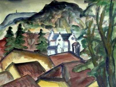 Maehren3-Mikulov-Blick vom Schloss 1