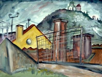 Maehren38-Mikulov-Blick zum Kopecek2