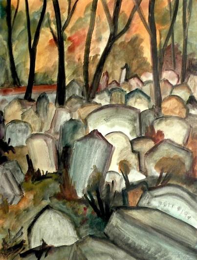Maehren9-Mikulov-Juedischer Friedhof4