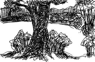 MittelSk4 Zauche Landschaft mit Baum
