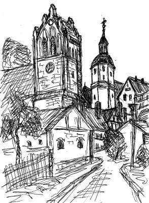 PrignitzSk12 Demerthin Kirche und Schloss