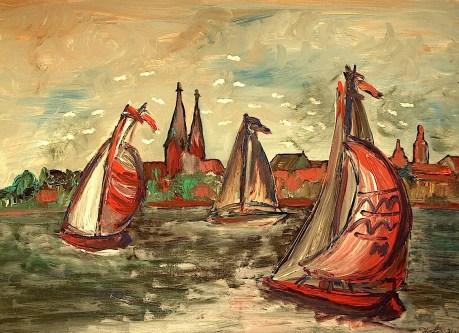 Ruppin18_Segelboote vor Neuruppin