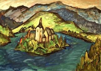 Slowenien16_Inselkirche im Bleder See1