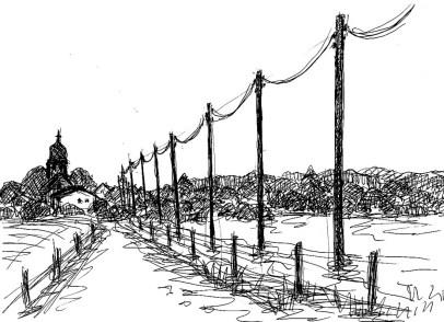 TeltowSk8 Sagritz-Feldweg mit Masten