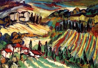 Toscana25-Landschaft bei Siena