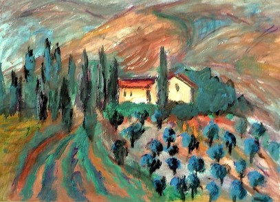 Toscana28-Landgut bei Volterra