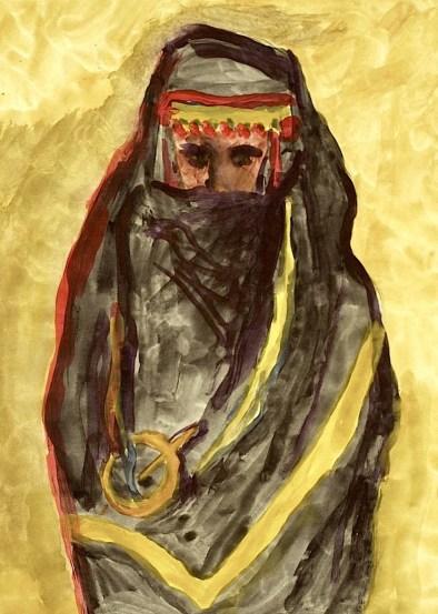 Tunesien8-Beduinenfrau-Aqu