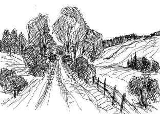 UckerSk8 Landschaft bei Pfingsberg