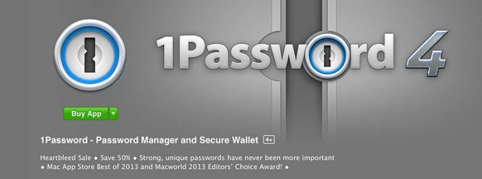 1Password 50% OFF