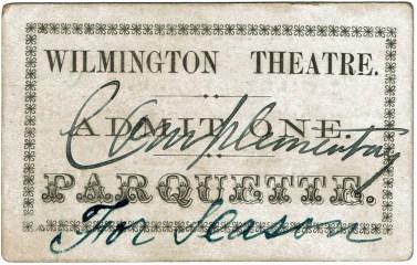 Front of Wilmington Theatre Ticket