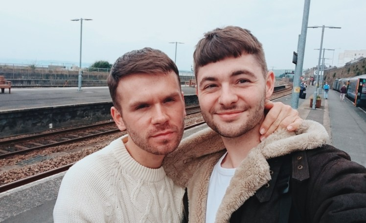 Jacob & Tommy At Penzance Train Station