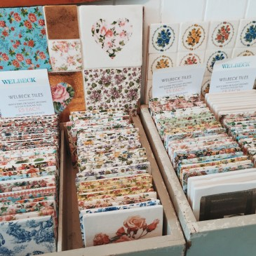 Selection Of Pretty Floral Handmade Cornish Tiles