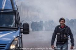 Ausschreitungen bei Demonstrationen gegen die Grenzkontrollen - 07.05.2016 (9 von 28)