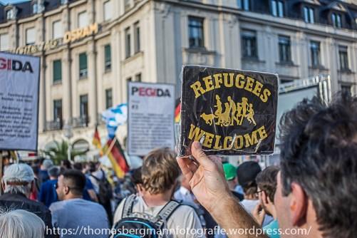 München zeigte wie schon so oft, dass Pegida nicht willkommen ist!
