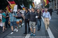 Dan Eising (Die Rechte Nürnberg) durfte wie letzten Montag Ordner sein