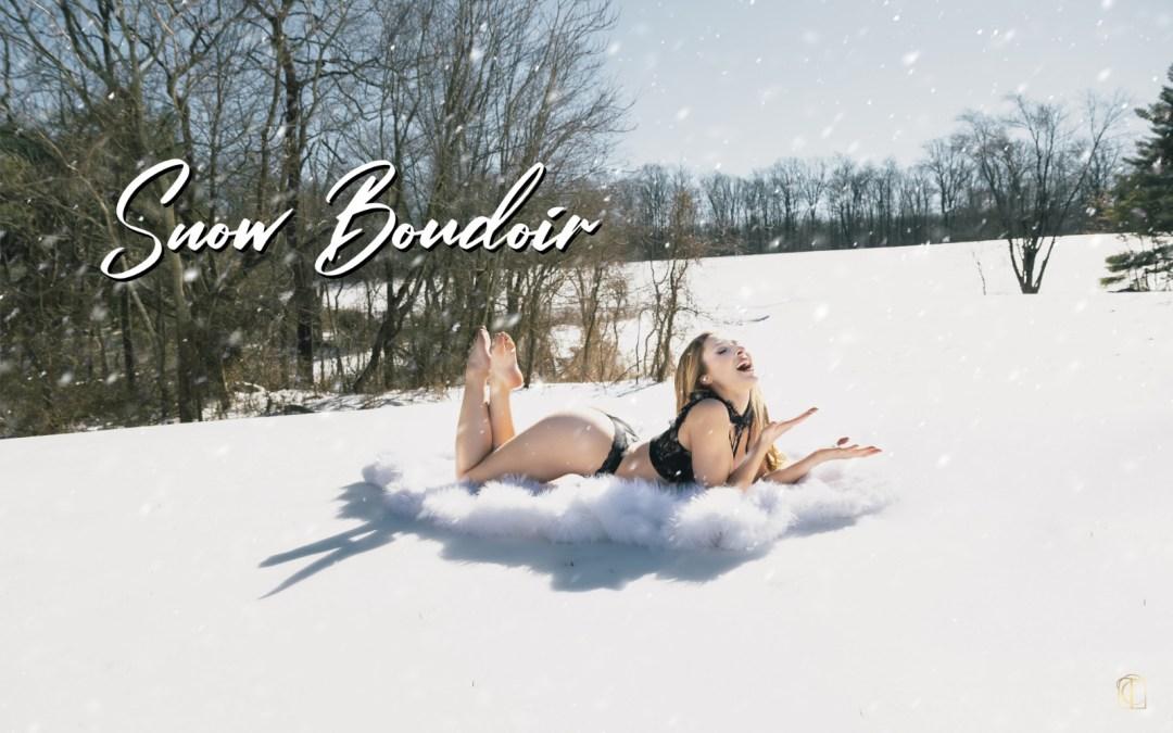 Snow Boudoir Photoshoot