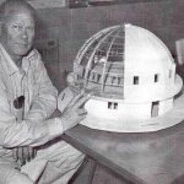 George Van Tassel with Integratron model