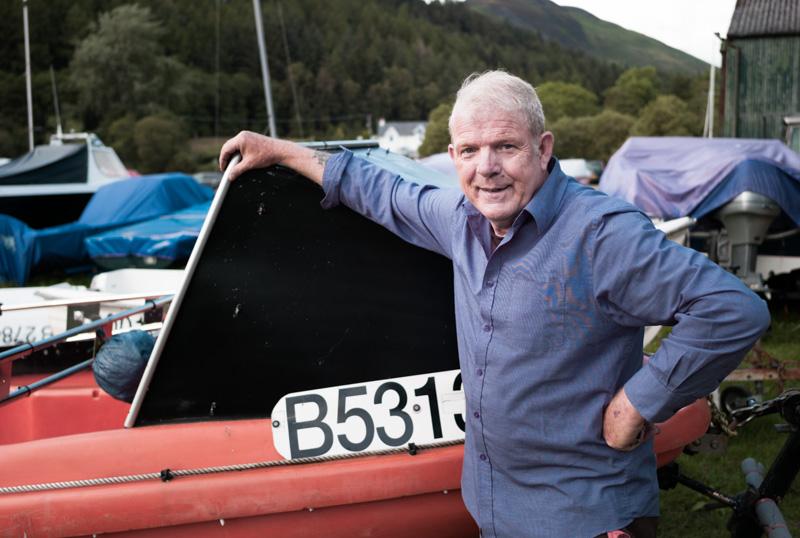 Ecosse : portrait d'un homme et de son bateau