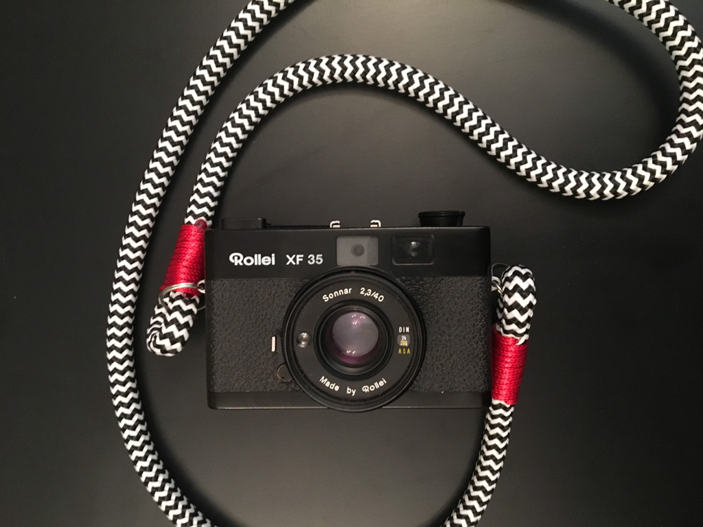 Hyperion camera strap on Rollei