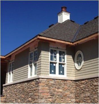 A close up of the exterior finish combinations – a beautiful blend!