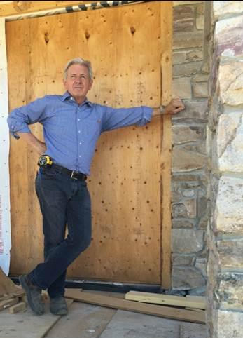 Tom Cochren, president, surveying the site.