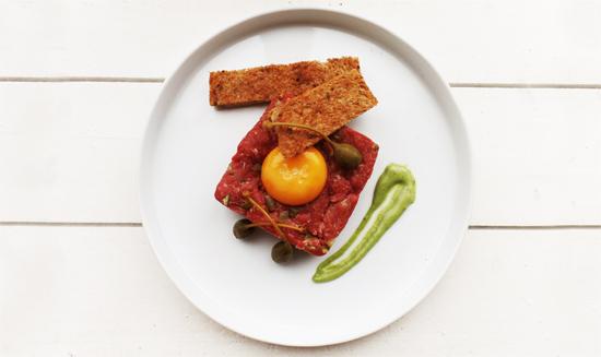 Steak tartare van Ossenworst - Thomas Culinair