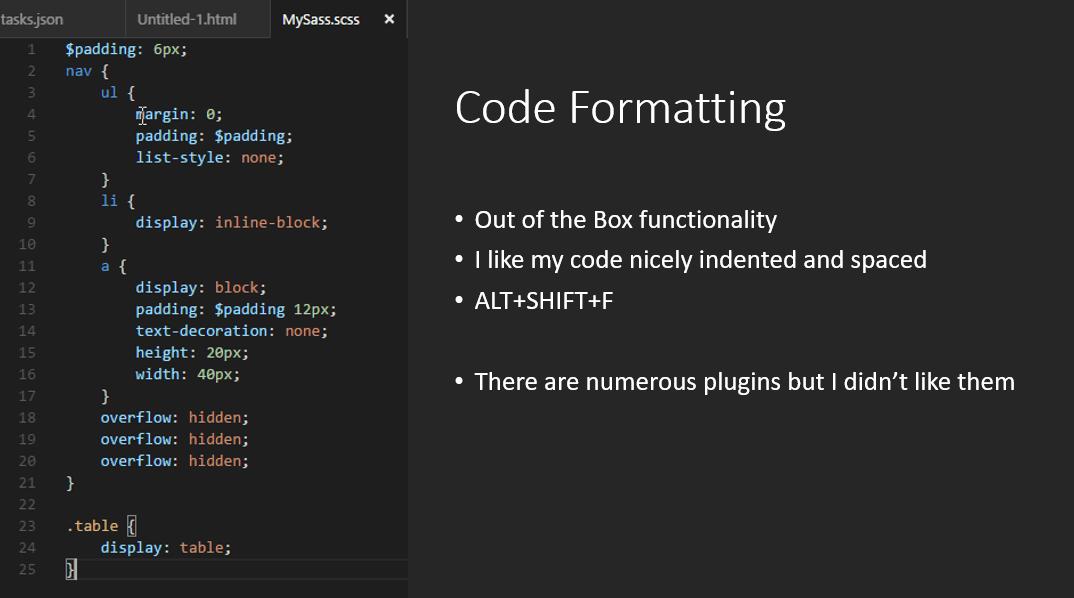 code-formatting