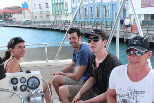 """20 years of microRNA Research Meeting"" Barbados 2014. Fishing trip with Marie Ohman, Marc Fabian, Rene Ketting and Leif Wikstrom."