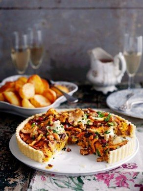http://www.jamieoliver.com/recipes/vegetables-recipes/vegan-mushroom-chestnut-cranberry-tart/