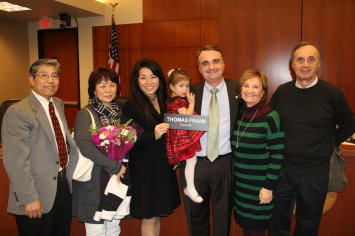 Thank you to my family who came out to support me.