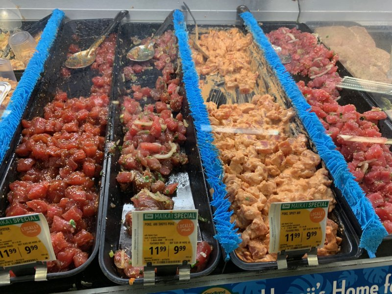 Poke Bar WIth Variety of Selection at Foodland