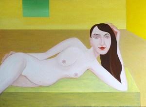 Groslier, peinture, nu