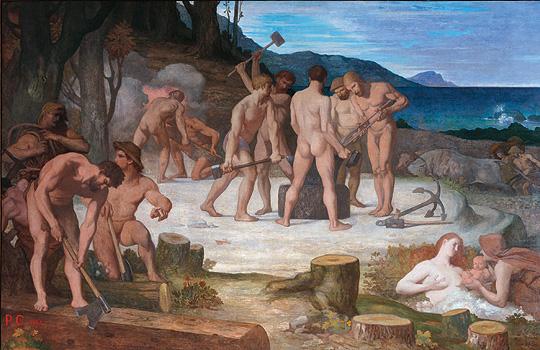 """Pierre Puvis de Chavannes """"Le travail"""" 1863 Amiens Musée de Picardie"""