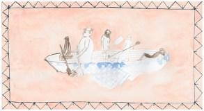 Oktoberfest, 2010, Tusche, Aquarell und Gouache auf Papier, 12,3 x 22,8cm