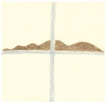 O.T., 2004, Buntstift auf Papier, 13,7 x 13,9cm