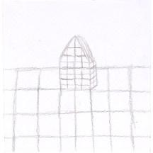 O.T., 2004, Bleistift auf Papier, 12,5 x 12,2cm