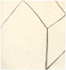 Ohne Titel, Kohle auf Papier, 9,6 x 8,8cm