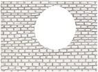 Mauerdurchbruch, 2004, Tusche auf Papier, Ausschnitt, 21 x 28,5cm