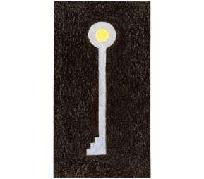O.T., 2003, Buntstift auf Papier, 15,6 x 8,5cm