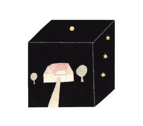 O.T., 2003, Collage, Blei- und Buntstift, Gouache auf Papier, 21 x 21,2cm