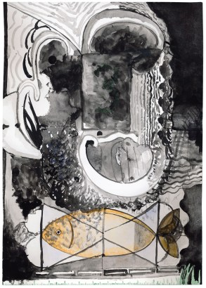 O.T., 2016, Aquarell und Gouache auf Papier, 29,7 x 21cm