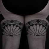 Thomas Hooper Tribal Leg Tattoo NYC June 28, 2010-004