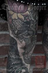Linda's Legs Tattooing by Thomas Hooper - 003 - July 14, 2011