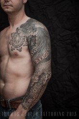 Thomas Hooper Tattooing Pheonix and Mandala Full Sleeve _13